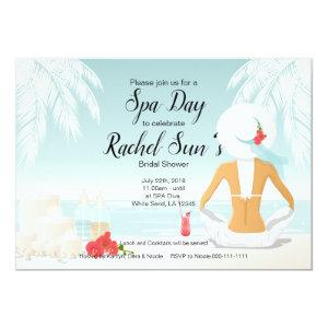 SPA Day Bridal Shower Invitation starting at 2.51