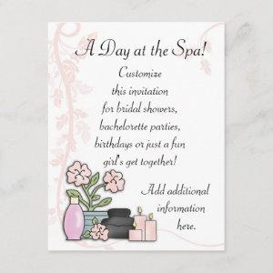 Spa Day Invitation starting at 2.47
