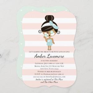 Spa Themed Bridal Shower Invitations Dark Skin starting at 2.80