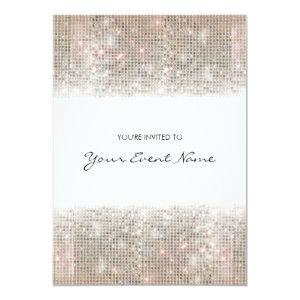 Sparkly Silver Faux Sequins Festive Party Invitation starting at 2.51
