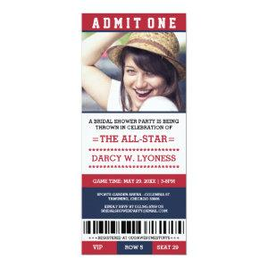 Sports Ticket Bridal Shower Party Invites starting at 2.71