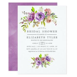 Spring Bridal Shower Watercolor Floral Invitation starting at 2.66