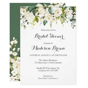 Spring Floral Greenery Bridal Shower Brunch Invitation starting at 2.15