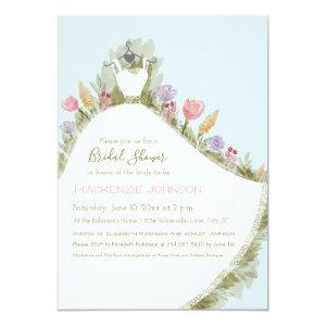 Spring Flowers Watercolor Dress Bridal Shower Invitation starting at 2.35