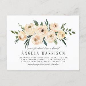 Spring Watercolor Floral Bridal Shower Invitation Postcard starting at 1.70