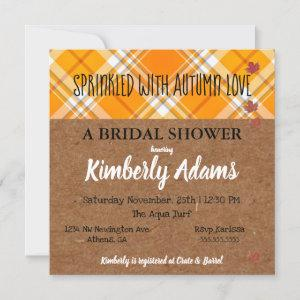 Sprinkle With Autumn Love Party Bridal Shower Invitation starting at 2.95