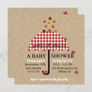 Sprinkle With Autumn Love Rustic Baby Shower Party Invitation starting at 2.40