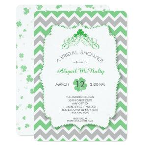 St Patrick's Day theme Bridal Shower, clovers Invitation starting at 2.71