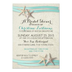 Starfish and Ribbon Bridal Shower Invitation starting at 2.31