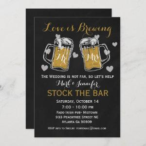 Stock the Bar Bridal Shower Invitation Couples starting at 2.40