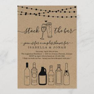 Stock the Bar Couple Shower Rehearsal Engagement Invitation starting at 2.56