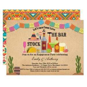 Stock the bar engagement party Taco Fiesta Invitation starting at 2.40