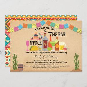 Stock the bar engagement party Taco Fiesta Invitation starting at 2.25