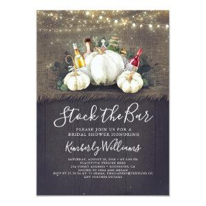 Stock The Bar Fall Party / Bridal Shower Invitation starting at 2.51