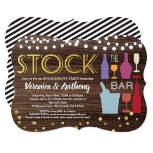 Stock the bar invitation couples shower rustic starting at 2.50