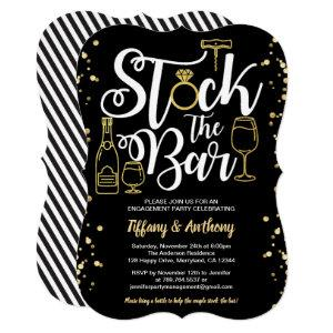 Stock the bar invitation engagement party gold starting at 2.65