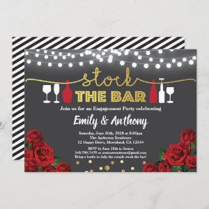 Stock the bar invitation Red black and gold white starting at 2.40