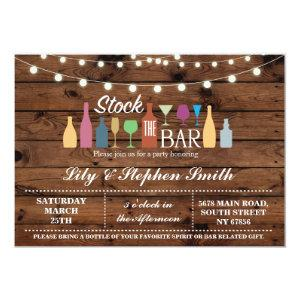 Stock The Bar Wood Engagement Shower Invitation starting at 2.51