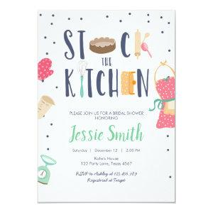 Stock the Kitchen Bridal Shower Cooking Baking Invitation starting at 2.66
