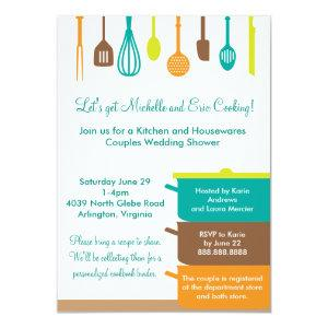 Stock the Kitchen Bridal Wedding Couples Shower Invitation starting at 2.21