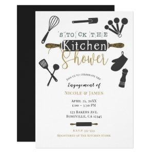 Stock the Kitchen Engagement Shower Modern Minimal Invitation starting at 2.65