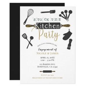 Stock the Kitchen Party Shower Modern Minimal Invitation starting at 2.65