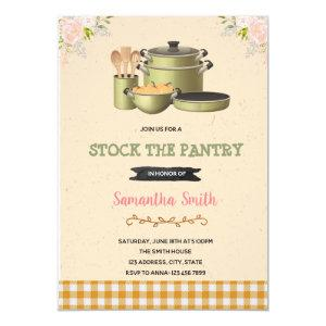 Stock the pantry bridal shower invitation starting at 2.50