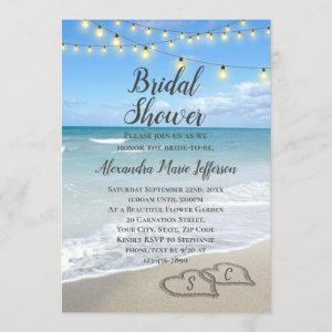 String Lights Hearts in Sand Beach Bridal Shower starting at 2.65