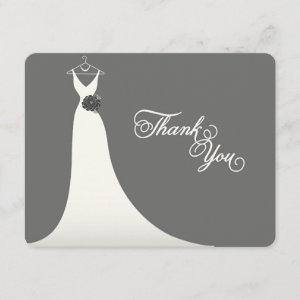 Stylish Chic Wedding Gown Bridal Shower Thank You Invitation starting at 2.51