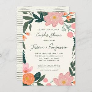Stylish Pink Garden Floral Couples Shower  Invitation starting at 2.31