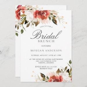 Subtle Red and White Floral Bouquet Bridal Brunch starting at 2.51