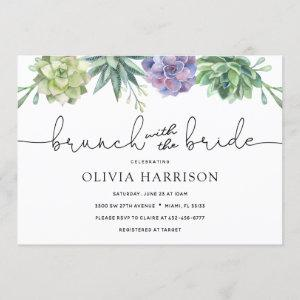 Succulent Brunch with the Bride Shower Invitation starting at 2.40