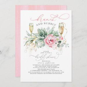 Succulent Greenery Brunch and Bubbly Bridal Shower Invitation starting at 2.51