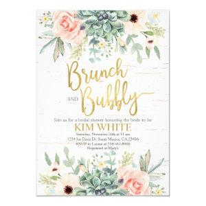 Succulents bridal shower brunch invitation starting at 2.40
