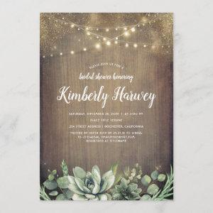 Succulents Greenery Rustic Country Bridal Shower Invitation starting at 2.51