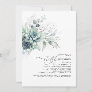 Succulents Greenery Silver Leaves Bridal Luncheon starting at 2.51
