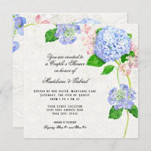Summer Blue Hydrangea Watercolor Couples Shower Invitation starting at 2.51