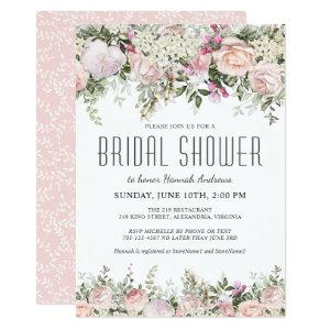 Summer Rose Garden Floral Bridal Shower Invitation starting at 2.26