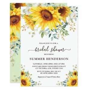 Summer Sunflowers Bridal Shower Yellow Floral Invitation starting at 2.66