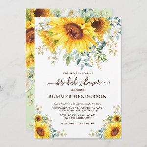 Summer Sunflowers Bridal Shower Yellow Floral starting at 2.66