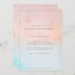 Summer Sunset Watercolor Couples Shower  Invitation starting at 2.51