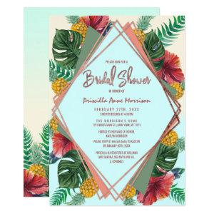Summer Tropical Pineapple Floral Bridal Shower Invitation starting at 2.61