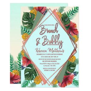 Summer Tropical Pineapple Floral Brunch and Bubbly Invitation starting at 2.61