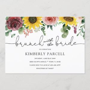 Sunflower and Roses Brunch with the Bride Shower Invitation starting at 2.40