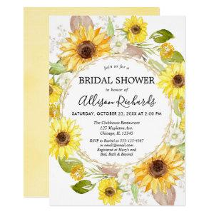 Sunflower bridal shower invitations watercolor starting at 2.55