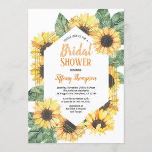 Sunflower Bridal Shower Watercolor Invitation starting at 2.25