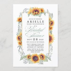 Sunflower Country Rustic Bridal Shower Invitations starting at 2.25