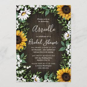 Sunflower Rustic Country Floral Bridal Shower Invitation starting at 2.25