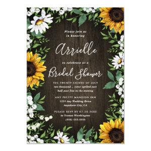 Sunflower Rustic Country Floral Bridal Shower Invitation starting at 2.00