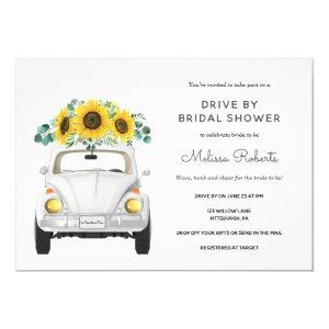 Sunflower White Car Drive By Bridal Shower Invitation starting at 2.55